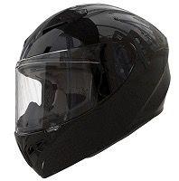 Casco moto integral shiro 870 negro brillo