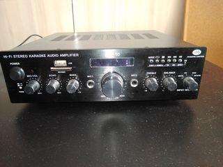 Amplificador HI-FI con USB MP3, FM y karaoke