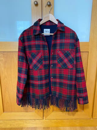 Sobrecamisa/chaqueta cuadros Zara