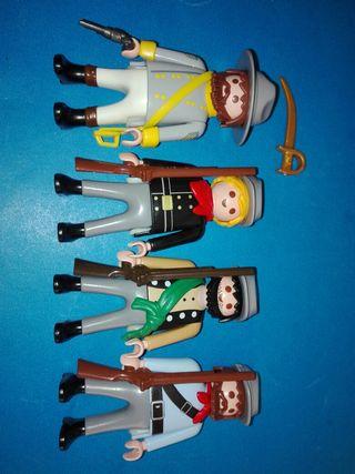 playmobil soldados milicia sudista infanteria