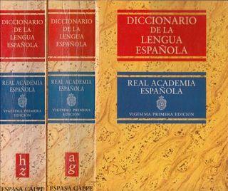 Lote de 9 Diccionarios españoles