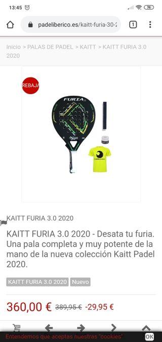 Pala kaitt furia 3.0 2020 Nueva