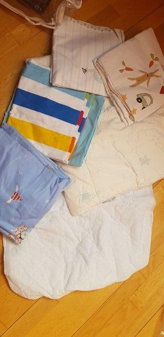 lote cuna: protector colchón + relleno nórdico