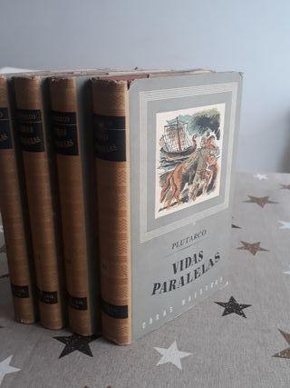 Libros Plutarco Vidas paralelas I II III y IV