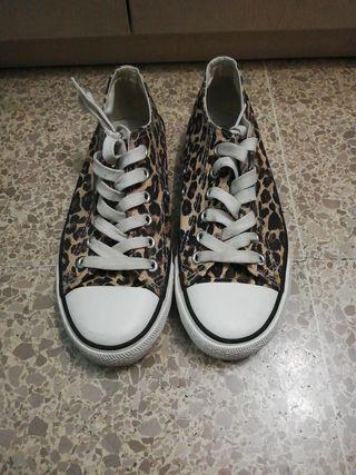 Bambas de leopardo estilo Converse