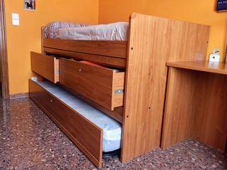 Cama nido con cama supletoria