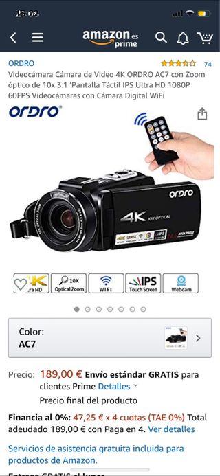 Videocámara Cámara de Video 4K nuevo! No usado