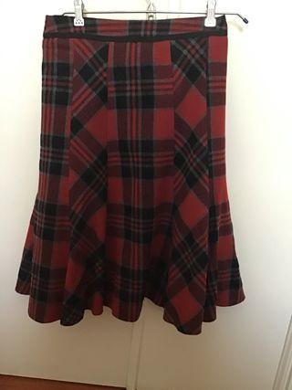 Falda lana virgen escocesa