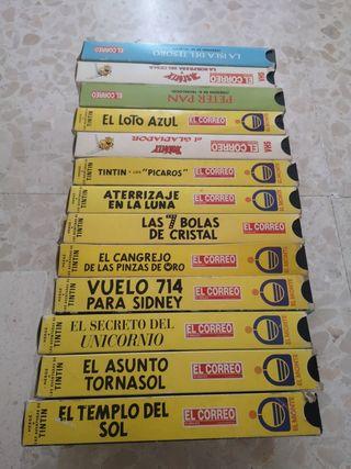 se vende colección de películas de tintin