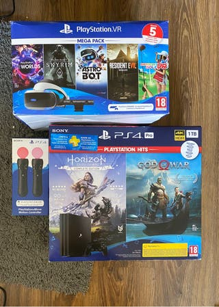 Ps4 pro 1tb + gafas vr + moves + camara