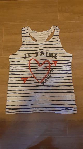 Camiseta a rayas talla 13-14 años