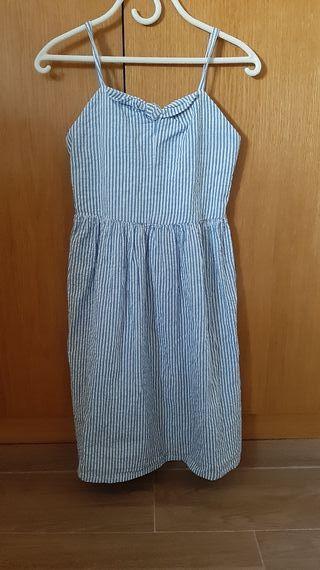 Vestido niña a rayas talla 10-11