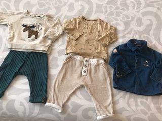 Lote ropa bebé primavera Obaby Zara Kiabi