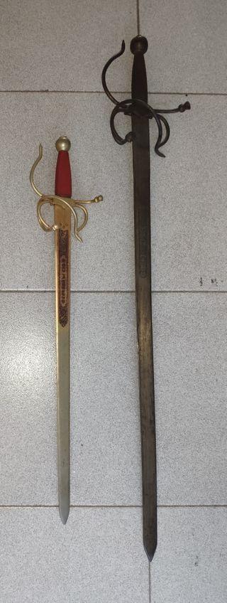 Espadas decorativas Colada del Cid y Toledo
