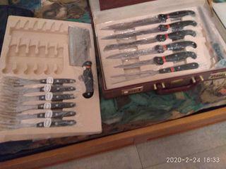 resto de cuchillos con maletin