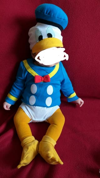disfraz Donald bebé 3-6 meses disney