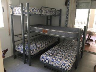 cojunto literas 4 camas