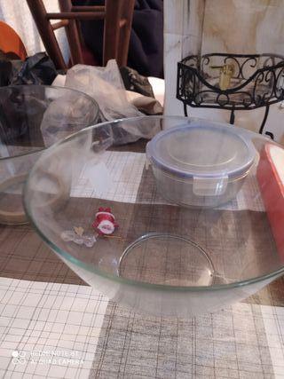 Juego de ensaladeras de cristal