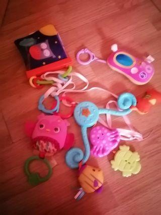 bebe juguetes cuna y carrito