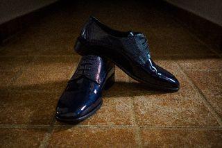 Zapato de novio azul n°42