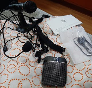 Amplificador de voz con microfono