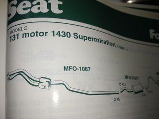 Seat 131. Tubo colector de escape, motor 1430