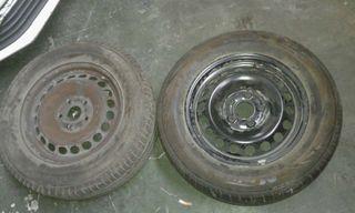 2 llantas 5x112+ neumáticos 15pulg