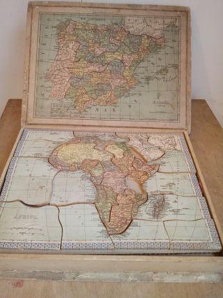 puzzle antiguo geografía