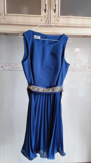 Vestido de gasa azul