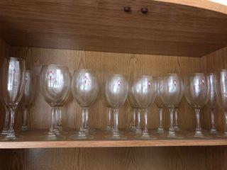 Conjunto de copas y vasos del R.C. Celta de Vigo