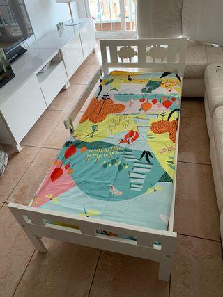 Cama completa Ikea KRITTER con colchón, cajones...