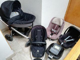 Carro bebé, silla grupo 1 y base isofix
