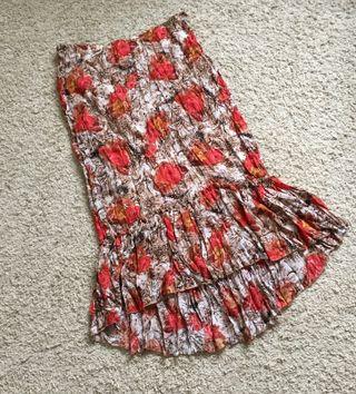 Falda midi 50 estampada