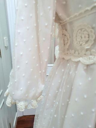 Vestido plumeti ceremonia arras ó comunión niña