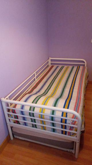 cama doble completa, como nueva