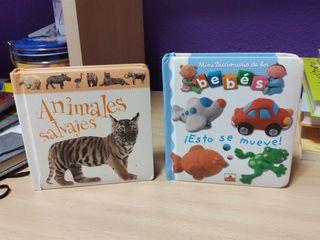 2 mini libros para bebés