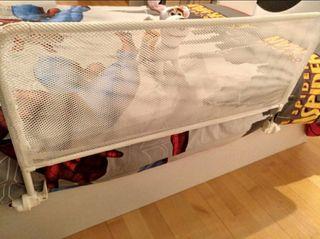 2 Barreras de seguridad plegable infantil cama