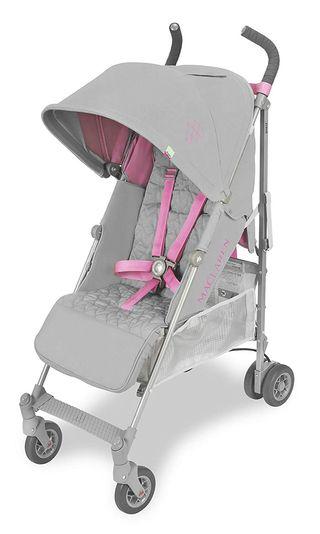 silla paseo Maclaren Quest rosa/plata NUEVA