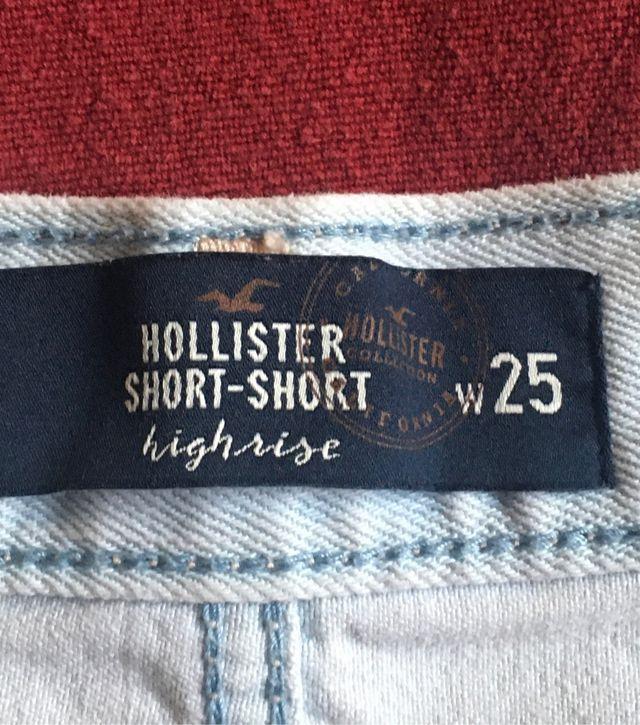 Short tejano blanco Hollister