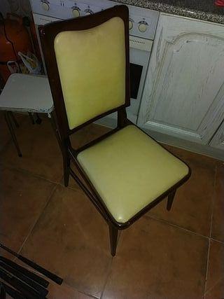 sillas antiguas polipiel,