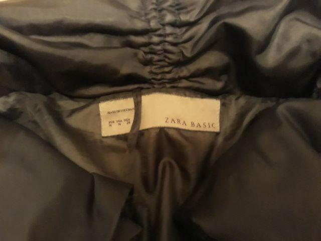 chaqueta negra plumas zara tM