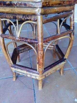 silla bambú antigua 15 años