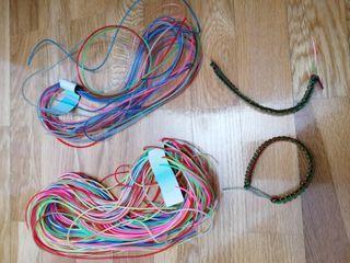 cuerdas de plástico pulseras