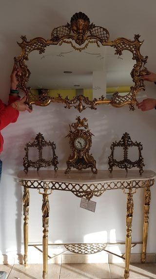 recibidor de bronce