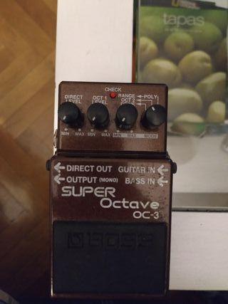 Pedal Super Octave OC-3 de Boss para guitarra