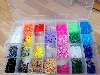 Hama beads + caja