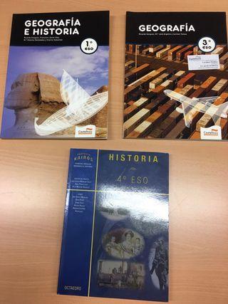 libros geografia e historia 1 3 ESO castellnou