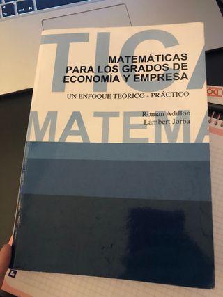Libro matematicas I ade ub