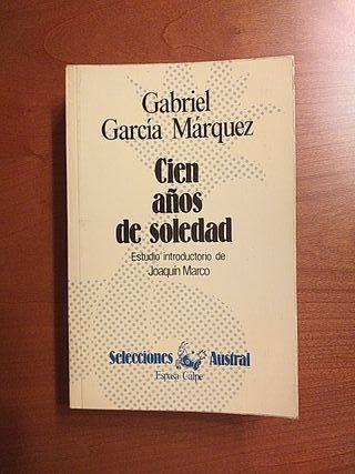 """LIBRO:""""CIEN AÑOS DE SOLEDAD""""GABRIEL GARCÍA MÁRQUEZ"""