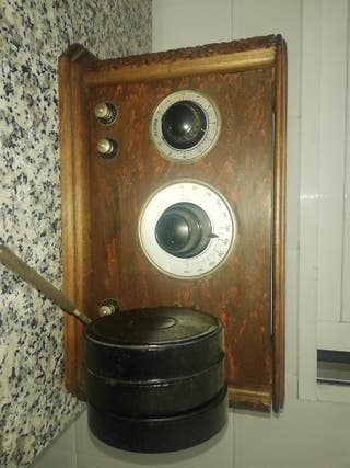 radio de galena, radio cofre, radio antigua